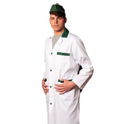 Camice casacca de hierro para hombre salumiere carnicero alimenticios supermercado trabajo verde 54