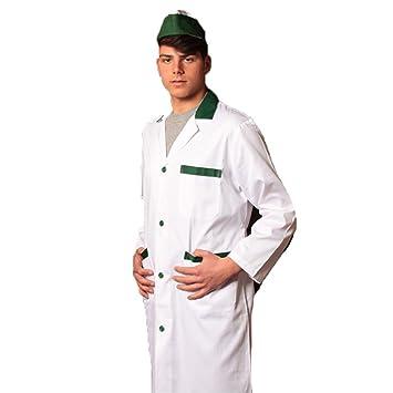 Camice casacca de hierro para hombre salumiere carnicero alimenticios supermercado trabajo verde 54: Amazon.es: Hogar