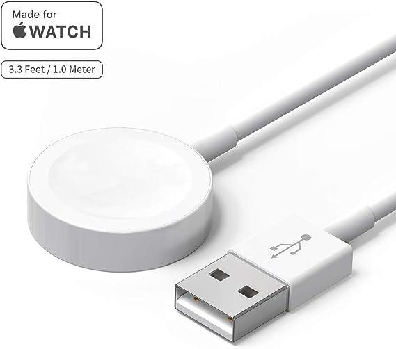 Chargeur Apple Watch , câble de charge iWatch, câble de charge magnétique vers USB, station de charge de câble de charge de 1m pour chargeur sans fil
