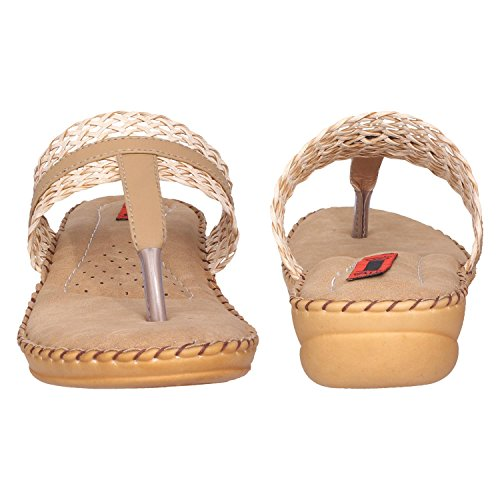 51lIm gjjtL. SS500  - 1 Walk Comfortable Synthetic Leather Doctor Sole Women's Flats - Beige