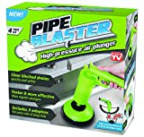 Pipe Blaster - high-pressure air plunger, clear clogged kitchen, bathroom and toilet drains and pipes