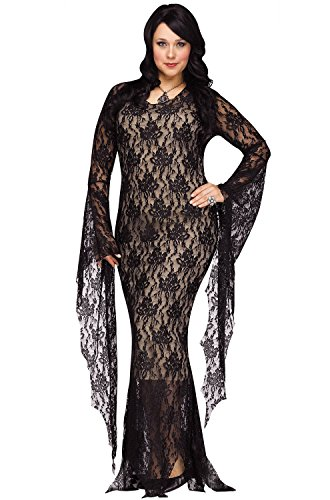 Fun World Women's Plsz Miss Darkness Cstm, Multi, Plus Size