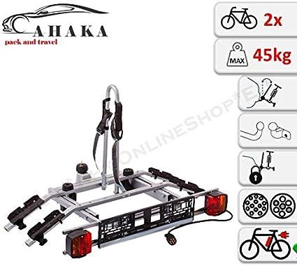AHAKA Barra de Remolque para 2 Bicicletas, Soporte para Bicicleta ...