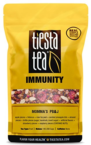 - Berry Almond Hibiscus Tea | MOMMA'S PB&J 5 Ounce Tin by TIESTA TEA | Caffeine Free | Loose Leaf Herbal Tea Immunity Blend