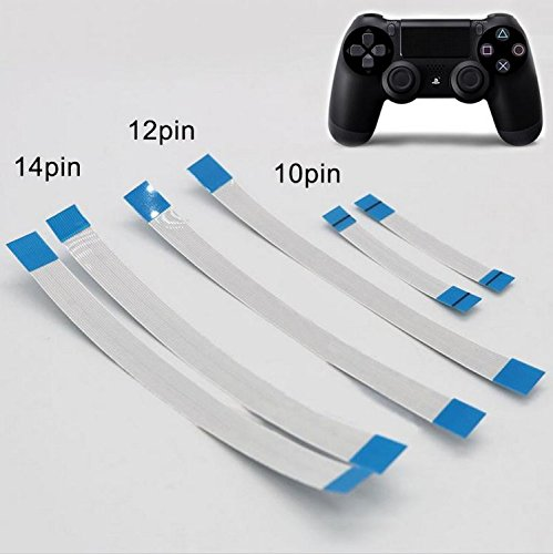 6PCS Sony PS4 Controller 12 Pin 14 Pin Charging Board Flex Cable 10 Pin Touch Pad Flex Ribbon - Touchpad Cable