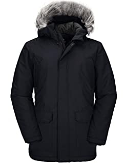 FEN/&Fanxut Washed Cotton Hooded Winter Jacket Parka for Detachable Hooded Jackets Coats Casual Warm Snow Parkas