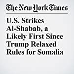 U.S. Strikes Al-Shabab, a Likely First Since Trump Relaxed Rules for Somalia | Charlie Savage,Helene Cooper,Eric Schmitt