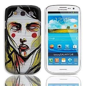 YULIN Caso duro del diseño pintura al óleo con el paquete de 3 protectores de pantalla para Samsung Galaxy S3 I9300
