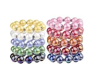 Set of 10 iridescent bead stretch bracelets for Lin s jewelry agana guam
