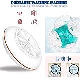 Lothver Portable Travel Washer, Ultrasonic Turbine Washer Vegetable and Fruit Washer Disinfectant Washing Machine For Kitchen
