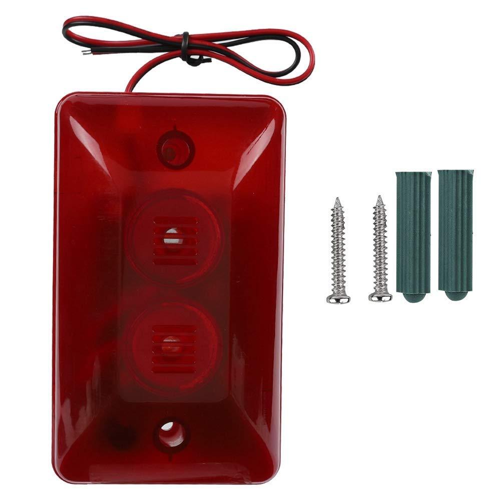 12V 15W Sirena Alarm, 120dB Altavoz con luz Flash Sirena de Alarma para casa, Empresa, Comunidad, almacén