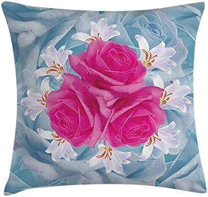 Rosa manta almohada Funda de cojín por Ambesonne, gráfico de ...