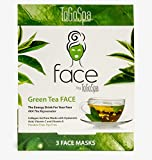 Green Tea FACE Anti-Aging Mask by ToGoSpa – Collagen Gel Masks with Hyaluronic Acid, Vitamins C & E Will Moisturize, Hydrate, Tighten, Lift , Firm, Brighten & Smooth your FACE – 1 Packs – 3 Masks For Sale