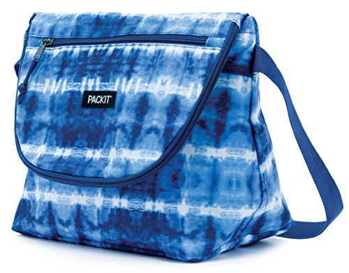 PackIt Freezable Uptown Lunch Bag, Tie Dye (Box Lunch Stays Cold That)