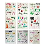#8: Aoyoho 9 Pieces different Style Journaling Planner Clear Rubber Stamp for Card Making Decoration and Scrapbooking