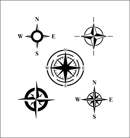 Amazon com: Yetta Quiller Compass Vinyl Sticker Unique Girly
