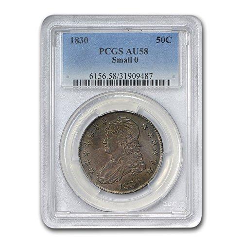1830 Capped Bust Half Dollar AU-58 PCGS (Small 0) Half Dollar AU-58 PCGS
