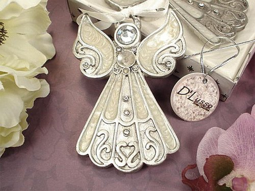 Wedding Favors Angel Hanging Ornament White Epoxy