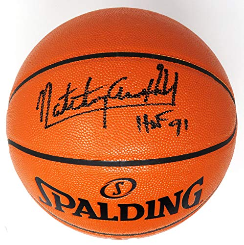 Nate 'Tiny' Archibald Signed Spalding NBA Game Series Replica Basketball w/HOF'96 - Autographed Basketballs