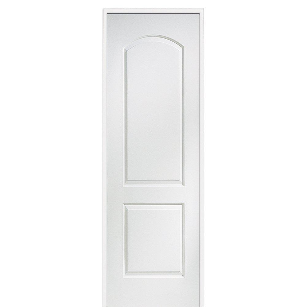 Molded Left Hand 28 x 96 on 6-9//16 Jamb Prehung Interior Single Door National Door Company ZZ365102L Solid Core MDF 2-Panel Archtop