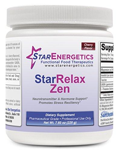 Relax Zen - 60 servings - Cherry Flavor Powder, Non GMO, Gluten Free, Inositol, GABA, Taurine, L-Theanine, Magnesium (Cherry)
