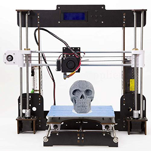 3D Printer A8 High Precision Large Size Desktop 3D Printer Kit Reprap Prusa I3 Upgrade DIY Self-Assembled LCD PLA/ABS Filament 1.75MM DIY 3D Printer Kit(220x220x240mm) (A8-W5 3D Printer)