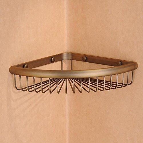 FeN Storage Shelf,Brass Antique Triangular Rack, Bathroom Creative Storage Basket,Wall Mount Kitchen Spice Holder by FeN