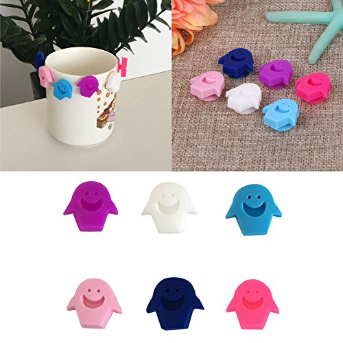 Latin America Costume Ideas (Lucrative shop 6 Pcs /lot Smiling Face Suction Cup Wine Glass Silicone Label Rubber Wine Glasses)