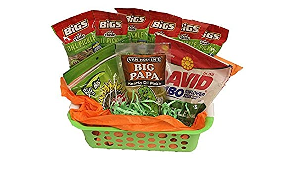 "Amazon.com : Dill Pickle Basket | Funny Gift | Baseball and Softball Gift Basket | Teacher Appreciation |""You're Kind Of A Big Dill"" Gift Basket : Grocery ..."