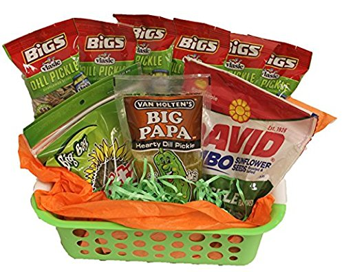 Dill Pickle Basket | Funny Gift | Baseball and Softball Gift Basket | Teacher Appreciation |''You're Kind Of A Big Dill'' Gift Basket by Powers Candy Co., Inc For Your Convenience