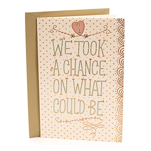 Hallmark First Anniversary Greeting Card (Chance on What Could Be) (Best Gift For Husband On First Wedding Anniversary)