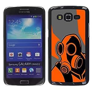// PHONE CASE GIFT // Duro Estuche protector PC Cáscara Plástico Carcasa Funda Hard Protective Case for Samsung Galaxy Grand 2 / Orange Psycho - B0Rderlands Game /