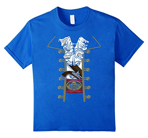 Kids Halloween Shirt | Awesome Pirate Costume Gift Idea 10 Royal Blue
