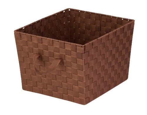 honey-can-do-sto-02117-woven-strap-tote-brown-medium