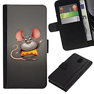 All Phone Most Case / Oferta Especial Cáscara Funda de cuero Monedero Cubierta de proteccion Caso / Wallet Case for Samsung Galaxy Note 3 III // Cute Funny Fat Mouse