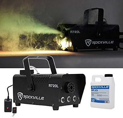 Rockville R720L Fog/Smoke Machine w/Remote+Fluid+Multi Color LED's+Carry Bag from Rockville