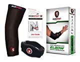 Tennis Elbow Brace – Copper Compression Elbow Sleeve. DashSport: The ORIGINAL Elbow System for Complete Support and Pain Relief from Golfer and Tennis Elbow