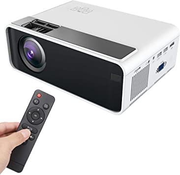 ASHATA Proyector LED, Mini HD 1080P LED LCD Smart Projector, USB Dual HDMI VGA Home Theater HDMI Home Cinema Proyector Inteligente 480P 110V-240V(Blanco): Amazon.es: Electrónica