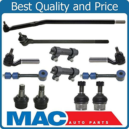 95-96 F250 4x4 Twin I-Beam Axle 3850LB Axle Tie Rods Drag Links Ball Joints 12pc Will Not Fit 4:10 Axle Ratio