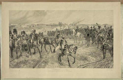 Photo Reprint 1815, Napoleons old guard at Waterloo 1898