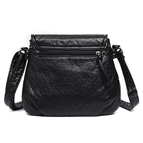 Handbag Cross Diagonal Black PU Woman Shoulder Package Work Leather NVBAO single Shopping Fashion Bag v0g8p1