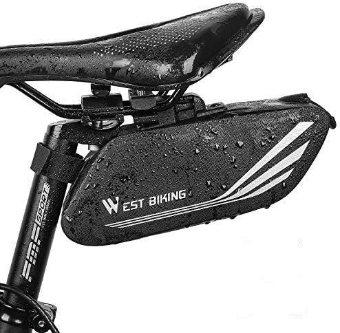 West Biking Drawstring Bag with Inside Zipper Pocket Sports Travel Bag Waterproof Breathable Light Backpack for Men Women 18.1x16.5 Inches Black