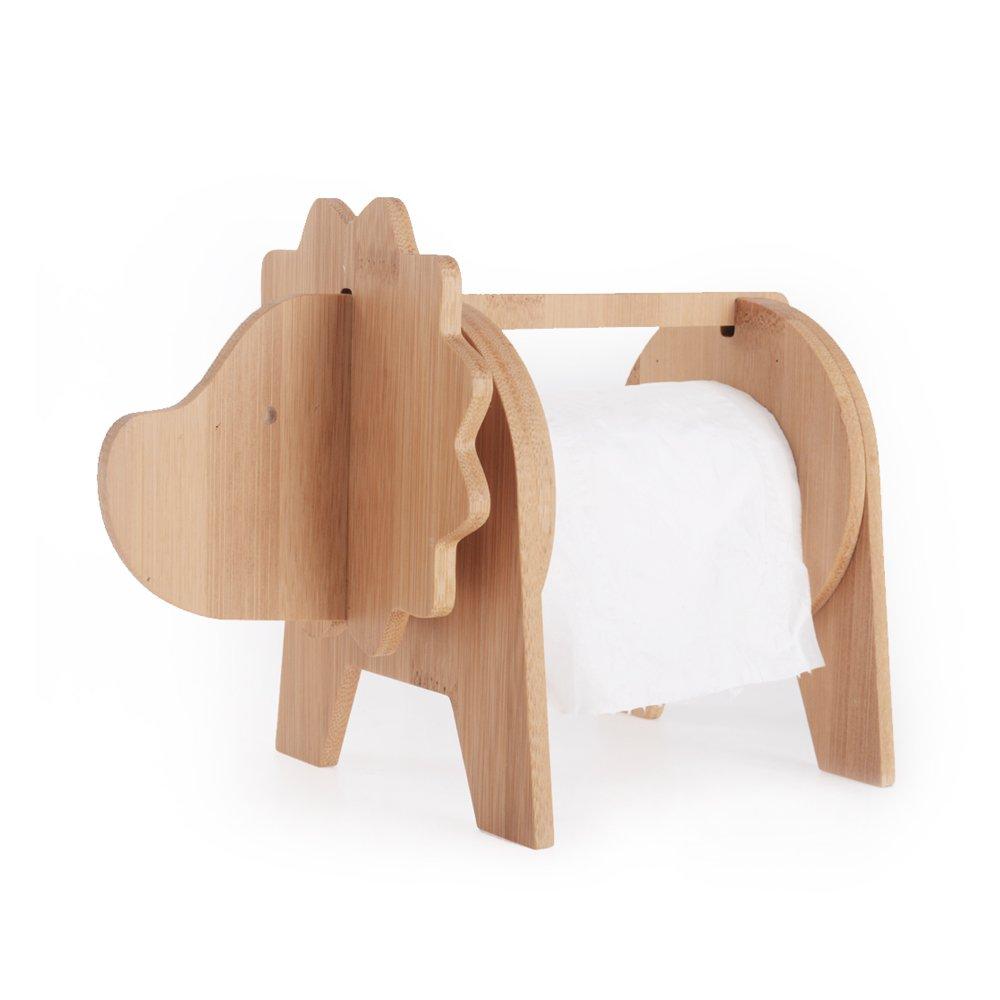 Bathroom Bamboo Lion Kitchen Toilet Paper Holder Home Decoration