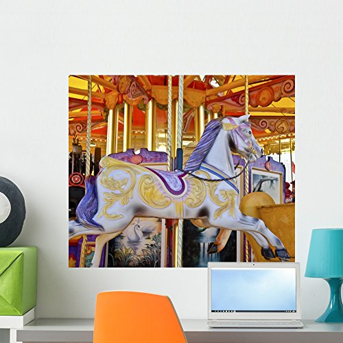 Wallmonkeys Carousel Wall Mural Peel and Stick Graphic (24 in W x 20 in H) -