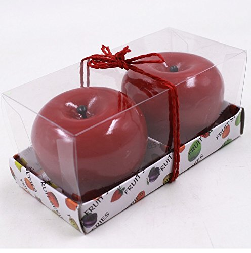 Second Hand Costumes (Exquisite Packaging Christmas Eve Apple-shaped Candle ( Color : Green ))