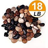[18 Pounds] Pebbles Aquarium Gravel River Rock, Natural Polished Decorative Gravel,Garden Outdoor Ornamental River…