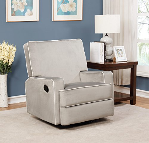 Naomi Home Comfy Reclining Chair Gray