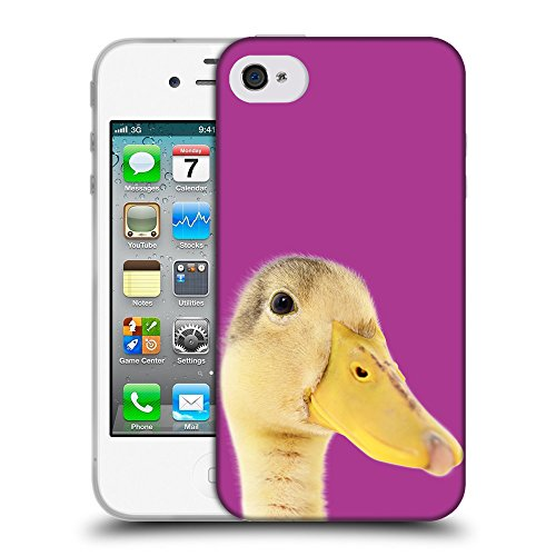 GoGoMobile Coque de Protection TPU Silicone Case pour // Q05760621 Caneton bizantino // Apple iPhone 4 4S 4G