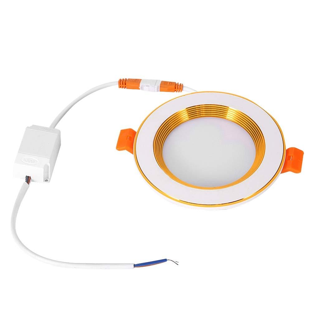 koulate スマートダウンライト WiFiランプ 7W ハイライト RGBW リモートコントロール WiFi 埋め込み式LEDスカイライトパネルライト 調節可能なLED照明器具 B07R5XBCHB