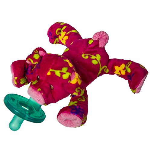Wubbanub Soft Toy and Pacifier, Pigtail Pig (Clip Pig)